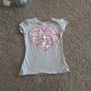 Other - Love & Lace heart short sleeve tee